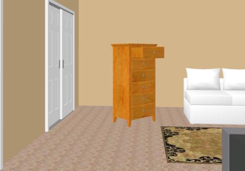 Warm honey wall paint on bedroom walls